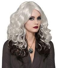 Silver Cast Zombie Witch Halloween Horror Fancy Dress Wig