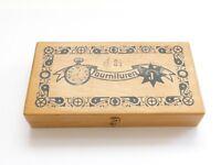 Junghans Fournituren Uhrmacher Ersatzteile Box Holz Kasten Schachtel Kleinteile
