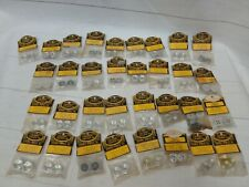 Lot of 33 Nos 1/32 1/24 Dynamic Custom deep dish alum slot car wheels New 60's