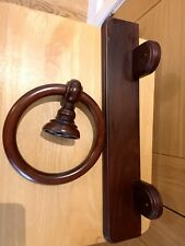 Wooden Towel Ring Wall Mounted, With Wooden Shelf