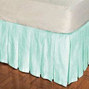 "15"" Drop Multi Pleat Bed Skirt 800 TC Egyptian Cotton Twin/Full/Queen/King"