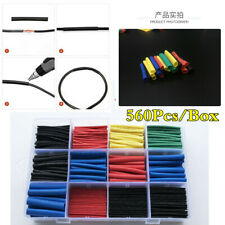 Universal 560Pcs Electrical Wire Wrap Tube Cable 2:1 Ratio Heat Shrink Sleeves