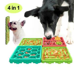 4pcs Anti-choke Slow Feeder Dog Bowl Anti-Gulping Food Plate Various Food Dish
