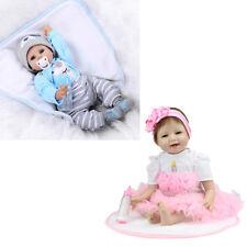 Reborn Doll 55cm Handmade Silicone Newborn Baby Silicone Doll Twins