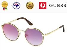 Guess Women's GU7556 32U Metal Frame Blue Gradient Red Mirror Lenses Sunglasses