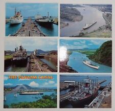 6 Postcards of the Panama Canal