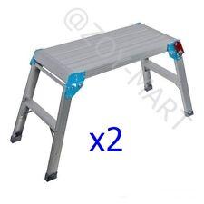 X2 Step Up Platform Aluminium Folding Decorating Step Silverline 640000 150KG