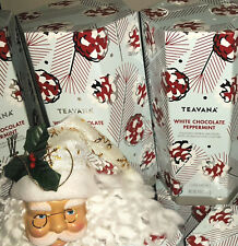 🍭☕ NEW FACTORY SEALED TEAVANA 8OZ WHITE CHOCOLATE PEPPERMINT TEA HOLIDAY TIN!!!
