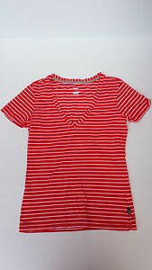 Nike The Athletic Dept red white striped top size S