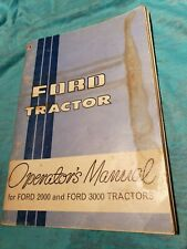 FORD TRACTOR 2000 3000 OPERATORS MANUAL USED PAPERBACK