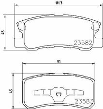 MINTEX MDB2080 BRAKE PAD SET DISC BRAKE Rear