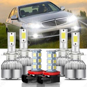 For Mercedes Benz C300 C350 2008 2009 2010 -  LED Headlight + Fog Light Bulbs