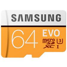 Samsung EVO 64GB Micro SD SDXC Memory Card Class 10 UHS-I 100MB/s for Smartphone