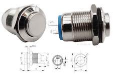 Drucktaster Taster, runder Schalter, Klingelschalter, Metall Druckschalter #131