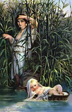 "perfect 24x36 oil painting handpainted on canvas""Moses in the Bulrushes""@9157"