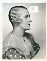 "Verree Teasdale Striking & Modernist ""Teasdale Bob"" Hair Style Photo 8 X 10 # 2"