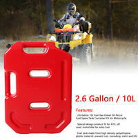 10L / 2.6 Gal Fuel Gas Tank Can Gasoline Diesel Storage Container ATV SUV Motor