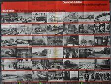 75TH Jubiläum Von Die Nyc Subway System Original 45X59 Subway Plakat Bonnell