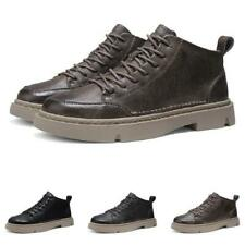 Mens Low Top Faux Leather Business Round Toe Work Office Lace up Breathable 44 L