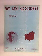 Vintage Piano Sheet Music MY LAST GOODBYE - Irving Berlin