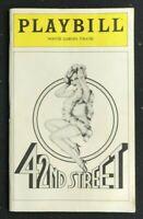 PLAYBILL - October 1980 - 42ND STREET - Jerry Orbach / Elizabeth Allen b5