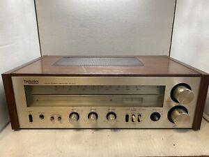 Technics SA-200 FM/AM Stereo Receiver original wood. Working