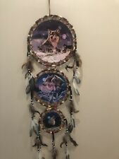 Free Shipping! 3 Tier Dream Catcher 3 Canvas Pictures Howling Wolves and Moon