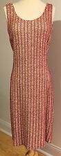 NWOT St. John Couture red silk knit dress size 6 $1500+
