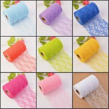 15cm Width Vintage Style Floral Tulle Lace 10/25Y Per Roll Wedding Chair Sash