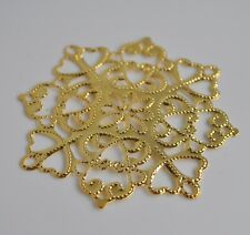 Extra large/big (6cm) filigree pendants/charms. Craft/jewellery findings. UK
