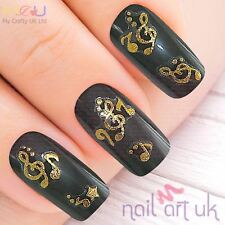 Gold Music Adhesive Nail Art Stickers