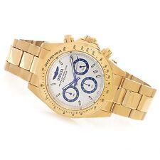 17312 Invicta 40mm Speedway Quartz Chronograph 18KT Gold-Plated Bracelet Watch