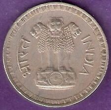 INDIA 1978 1 RUPEE 2 COINS LOT