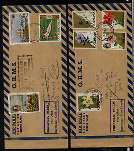 Cook  Islands    2  covers   to   US       MS0121