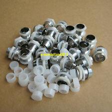 50pcs  10mm Plastics Metal LED Bezel Holder Panel Display Free Shipping