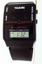 New Spanish Digital LCD Display Talking Watch Alarm Blind ships from U.S in Box