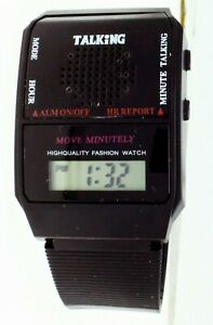 New Spanish Language Talking Watch Digital LCD Display For Seniors Old Or Blind