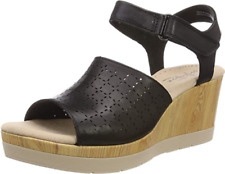 Clarks Ladies Sandals CAMMY GLORY Black Leather UK 6 / EU 39.5