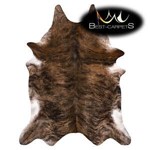 AMAZING artifical Cowhide Rug Cow printed brown black Large size Best Carpet