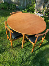 "Rare Roundette Table 6 Chairs mid century ""Danish / Ostervig"" Style ? Maker"