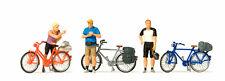 Preiser 10644 H0 Figurines 1:87 Debout Cyclistes in vêtements de sport NEUF
