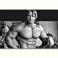 59345 Arnold Schwarzenegger Bodybuilding Fitness Gym Wall Print POSTER AU