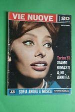 VIE NUOVE n.20/1961 SOFIA LOREN STRAGE A CERVAROLO PETER LAWFORD MARISA PAVAN