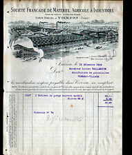 VIERZON (18) MATERIEL AGRICOLE & INDUSTRIEL Ancien ATELIER Celestin GERARD ,1915