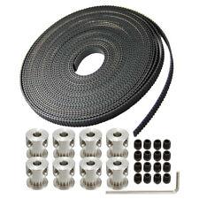 """8pcs GT2 20T 5mm Bore 6mm Width Pulley+16'5"""" GT2 Timing Belt  3D Printer Reprap"""