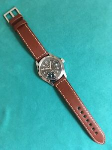 Hamilton Khaki Field Mens Brown Leather Swiss Automatic Watch H70455533