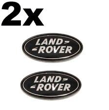 2 x Land Rover Front Rear Grille Boot Badge Black Range Rover Sport Evoque  LR4