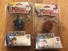 Si Worlds Coolest Miniature Super Impulse Beyblade Burst Keychain Blue Red Lot