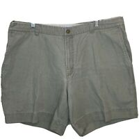 "Columbia Army Green Cargo Shorts Mens Sz 42 Hiking Fishing Heavy Cotton 7"" Insea"