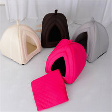 Cat Small Dog Soft Bed Met House Tent Removable Covered Bed